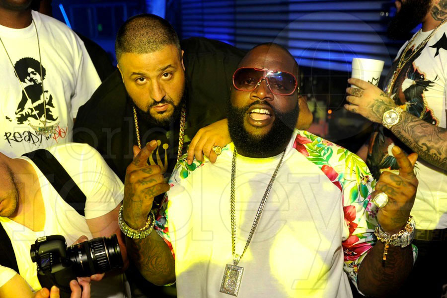 DJ Khaled & Rick Ross at Mansion
