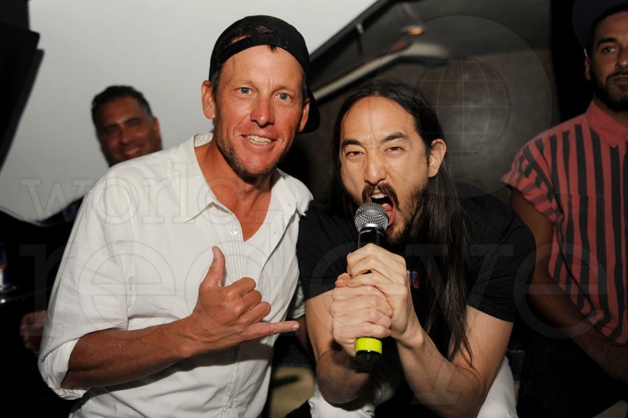 Lance Armstrong & Steve Aoki at LIV