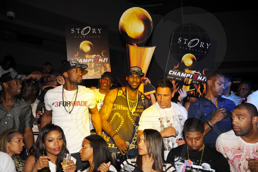 Gabrielle Union And Dwyane Wade Championship 2013 2013 NBA Champions Miami Heat