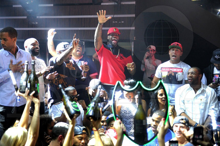 LeBron James Celebrates Championship at LIV