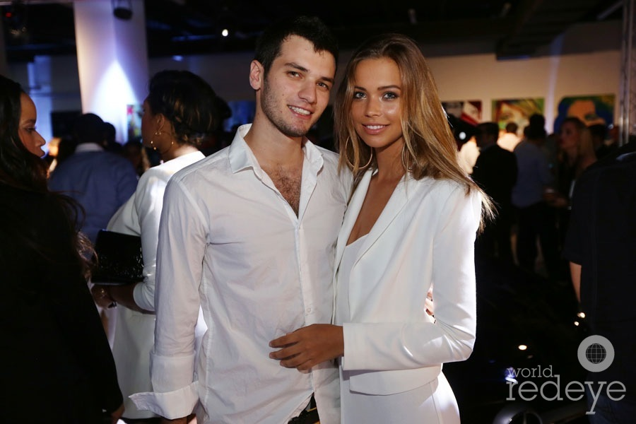 Sandra Kubicka with her ex-boyfriend Brandon Timinsky