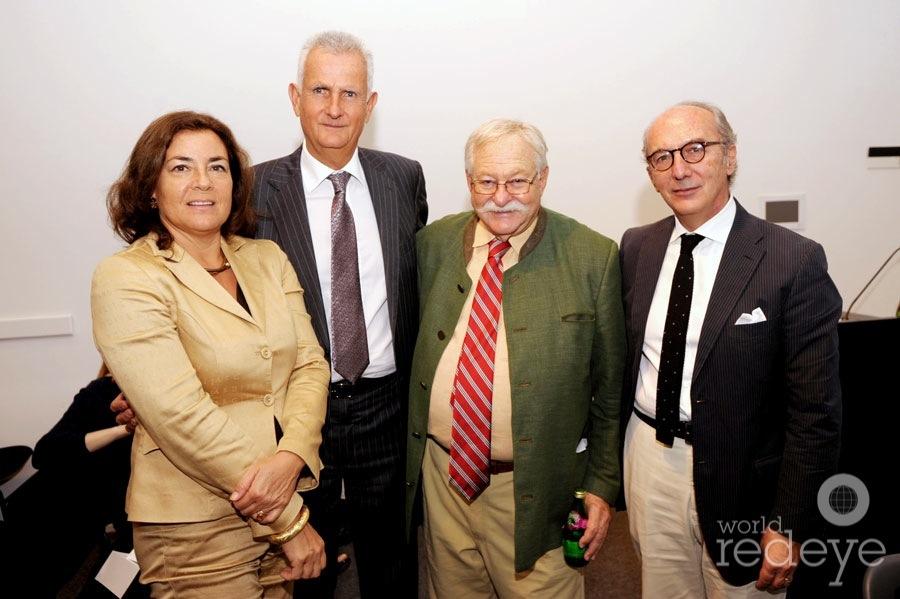 Federica Barattolo, Adolfo Barattolo, Micky Wolfson, & Riccardo Viale