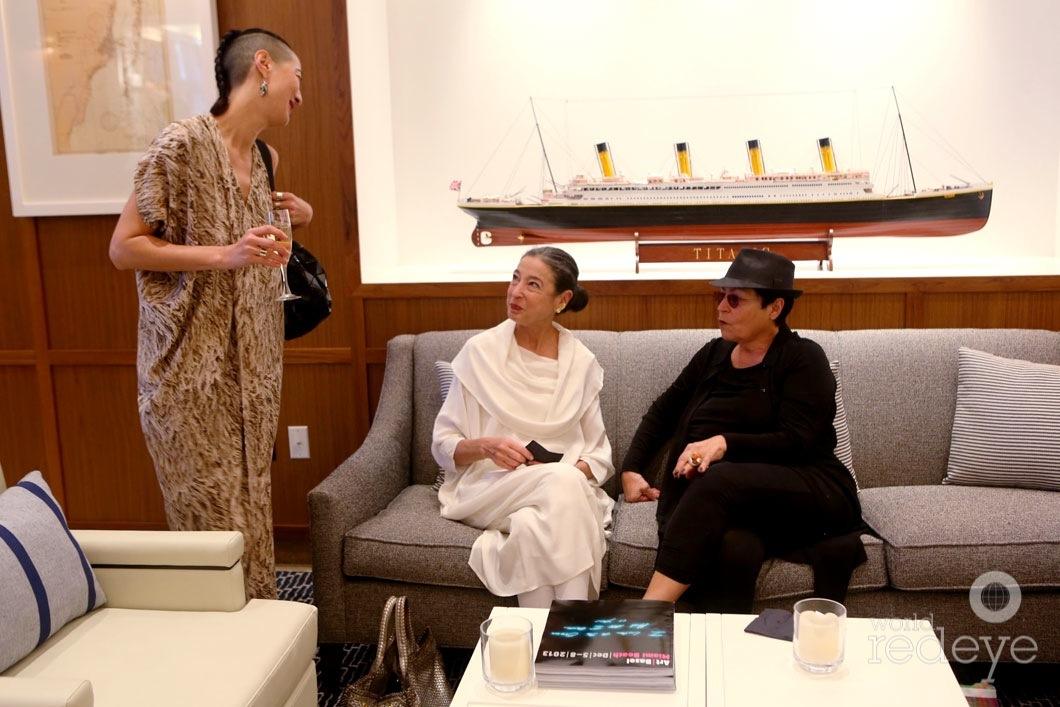 Angela Goding, Michele Oka doner, & Mera Rubell