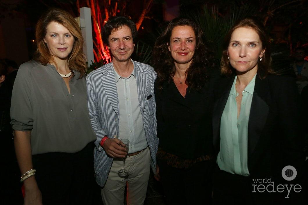 Virginie Mouzat, Jacques Lacoste, Caroline Sarkozy, & Frederique Dedet