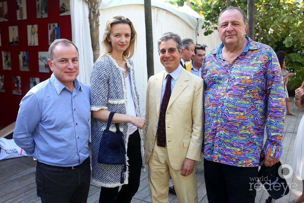 Michael Burke, Delphine Arnault, Jeffrey Deitch, & Jean Pigozzi