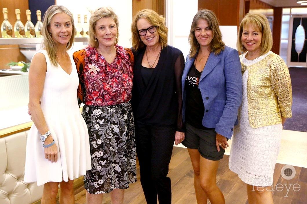 Sue Hostetler, Agnes Gund, Ann Philbin, Tracey Emin, & Lisa Dennison