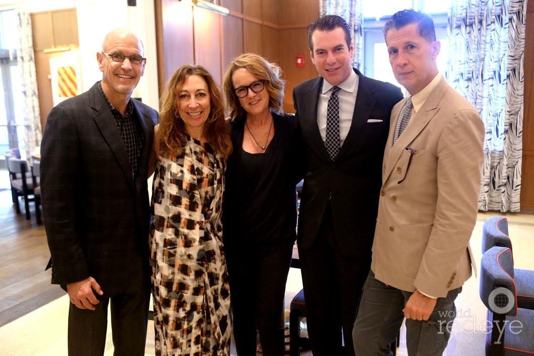 Charles & Dori Mostov, Ann Philbin, David Maupin, & Stefano Tonchi