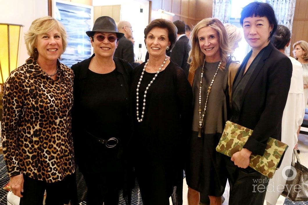 Nancy Wilhelms, Mera Rubell, Ann Korologos, Lorinda Ash, & Karen Wong