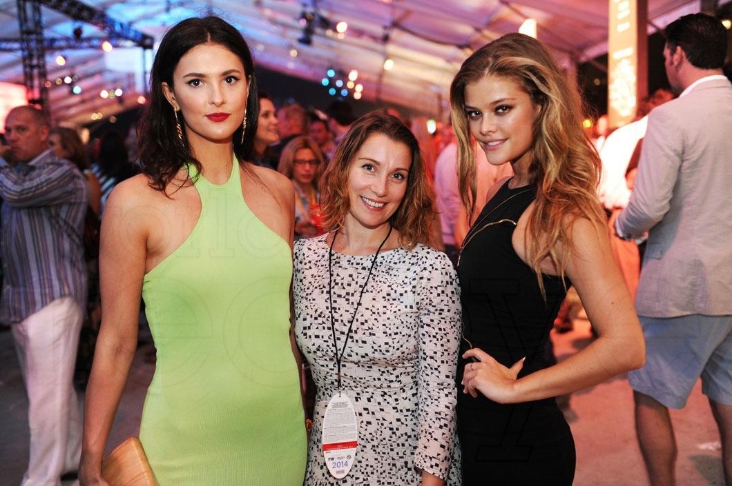 Caroline Byron, Claire Smith, & Nina Agdal