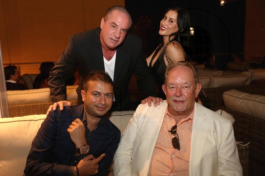 Kamal Hotchandani, Tommy Pooch, Michelle Pooch, & Robin Leach