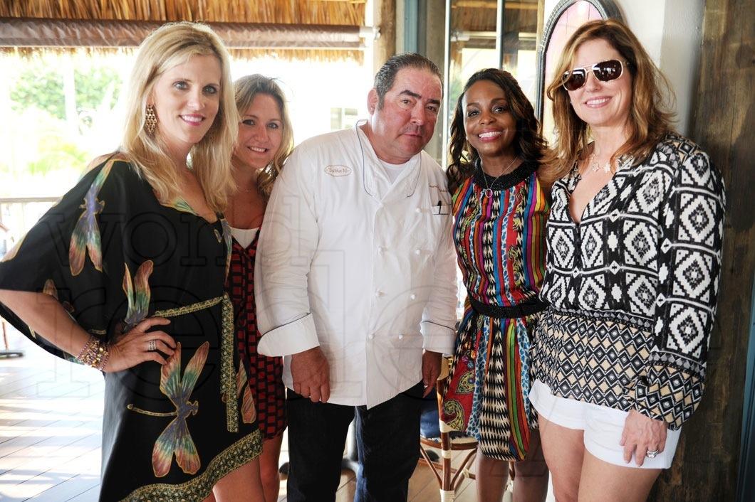 Tricia Johnson, Robin, Emeril Lagasse, Rochelle Trotter, & Alden Lagasse