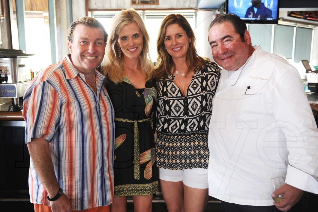 Matt Johnson, Tricia Johnson, Alden Lagasse, & Emeril Lagasse