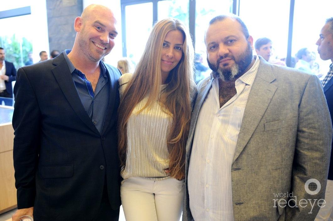Clara Makhlouf, Yves Barroukh, & Ryan Kartheiser