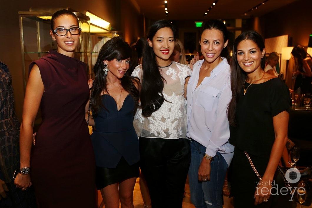 Soraya Fays, Brooke Rosenfeld, Sara Wiener, Ileana Janoura, & Asha Elias