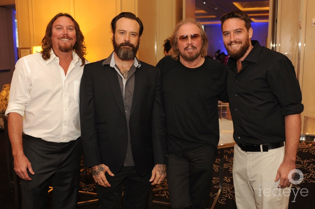 Photo of Barry Gibb & his  Son  Michael Gibb
