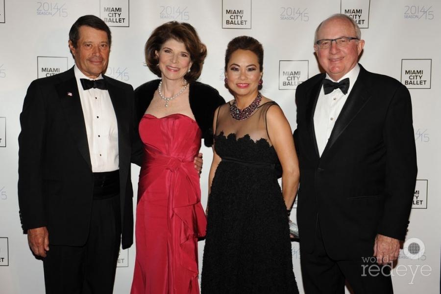 Paul & Virginia Pellicci, Marian Davis, & David Parker
