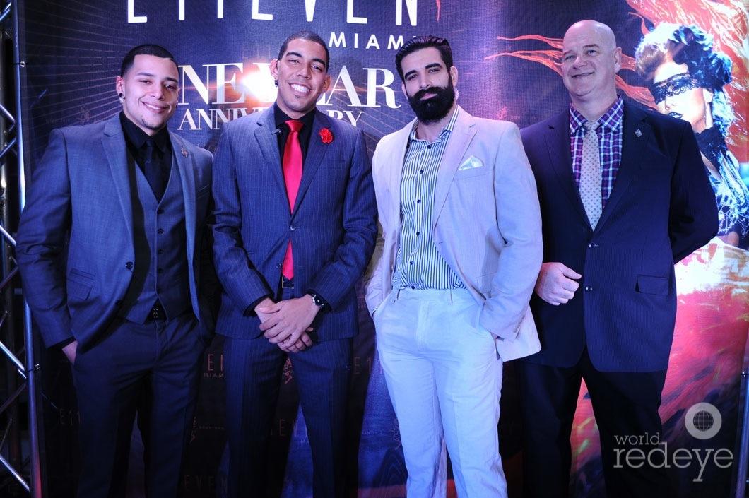 Luis Vento, Efrain Mendez, Mano Rojas, & David Reed