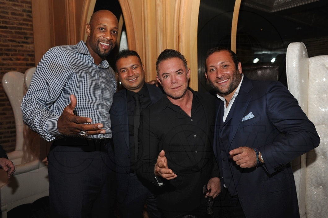 3-Alonzo Mourning, Kamal Hotchandani, Shareef Malnik, & Friend