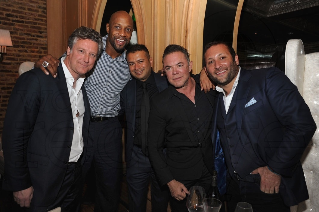 51-Yves Launay, Alonzo Mourning, Kamal Hotchandani, Shareef Malnik, & Friend