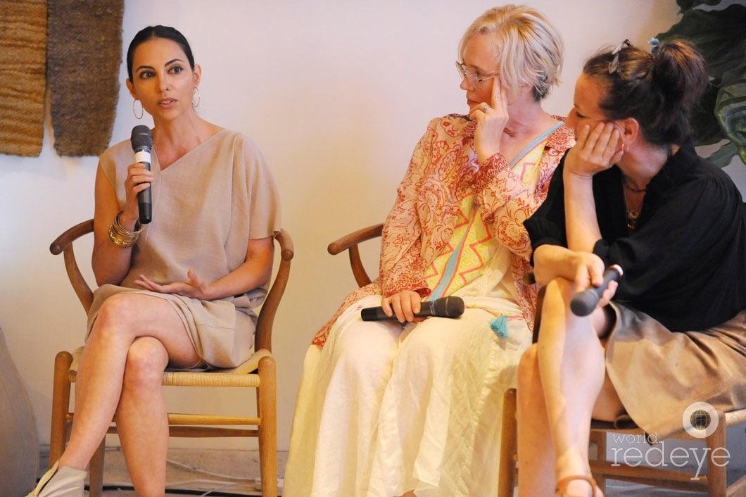 10-Teresita Fernandez speaking, Paula Hayes, & Dara Friedman