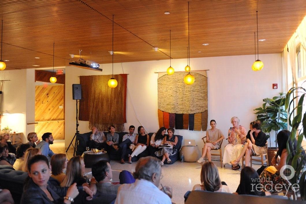 11-Teresita Fernandez, Paula Hayes speaking, & Dara Friedman3