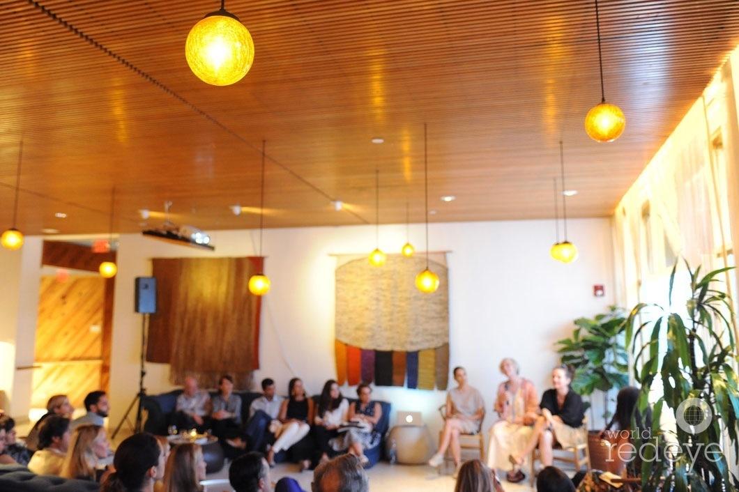 3.5-Teresita Fernandez, Paula Hayes speaking, & Dara Friedman2