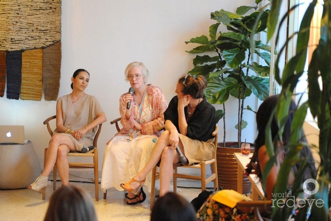 8-Teresita Fernandez, Paula Hayes speaking, & Dara Friedman1