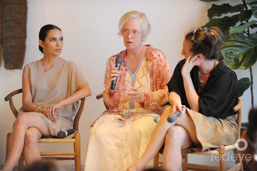 9-Teresita Fernandez, Paula Hayes speaking, & Dara Friedman