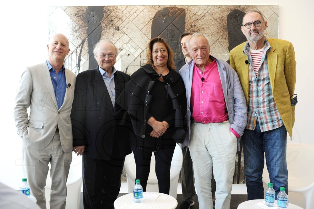 1-Paul Goldberger, Glenn Murcutt, Zaha Hadid, Richard Rogers, & Thom Mayne