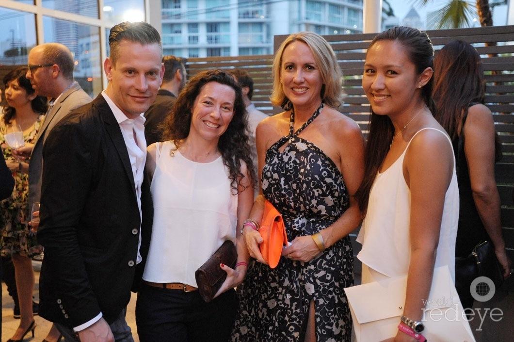 Roman Saegesser, Belen de Rivera, Chrissie Lincoln, & Charlotte Harris