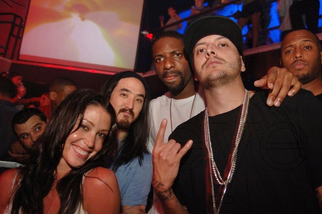 Shannon Elizabeth, Steve Aoki, DJ Irie, & Mr. Mauricio