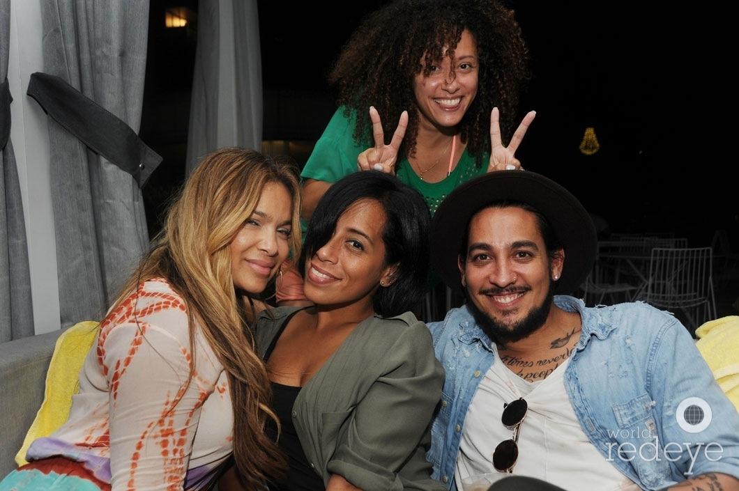 y-IZ, Inez Bonilla, Rich Rivera, & friend2