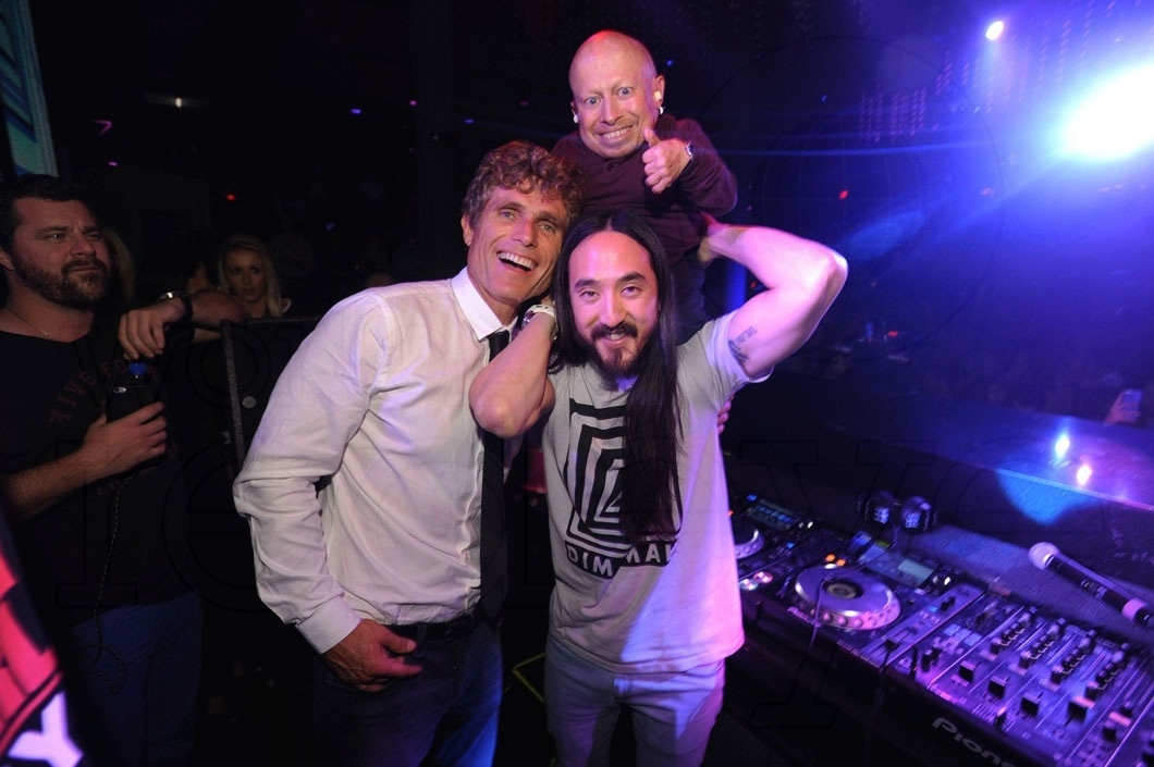 Anthony Shriver, Verne Troyer, & Steve Aoki