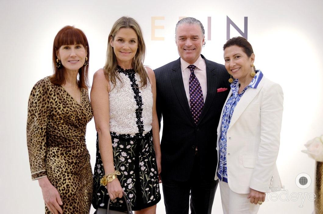 Jayne Abess, Aerin Lauder, Stephen Brunelle, & Annelies Da Costa Gomez