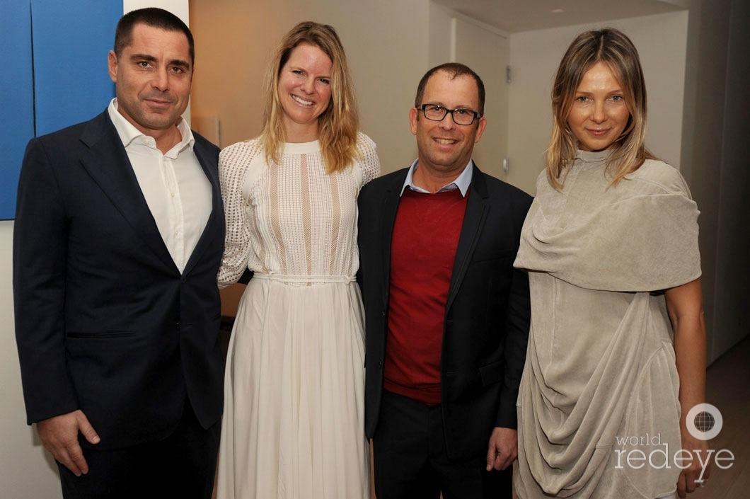 Riccardo Silva, George Lindemann, Tatiana Silva, & Friend