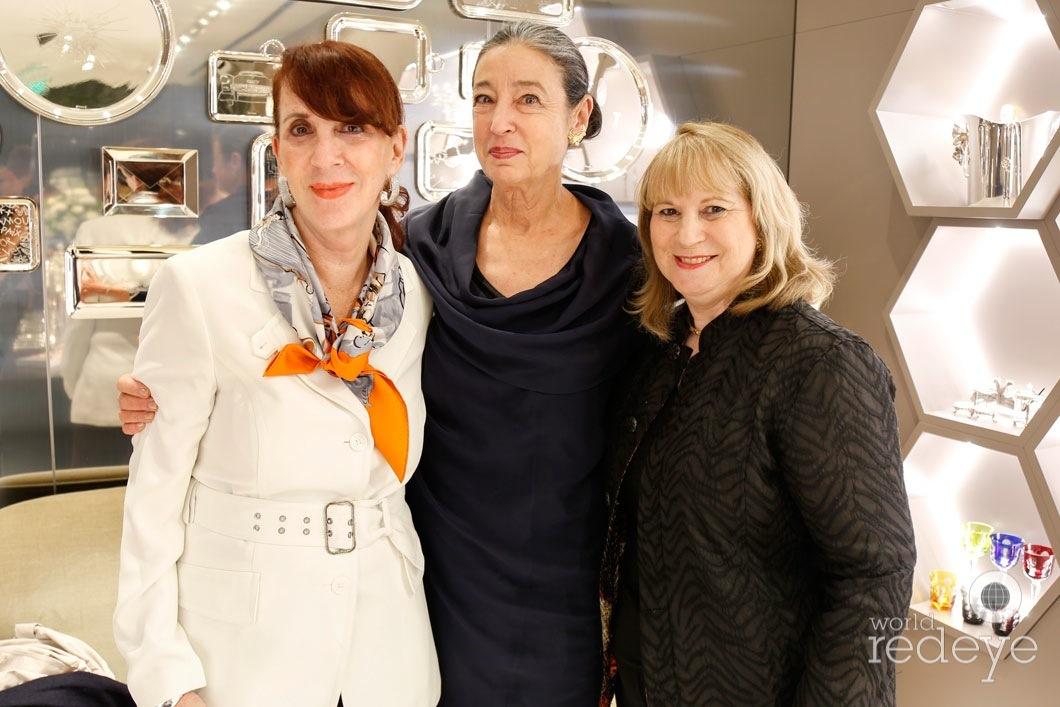 21-Gail Feldman, Michele Oka Doner & Irene Moore