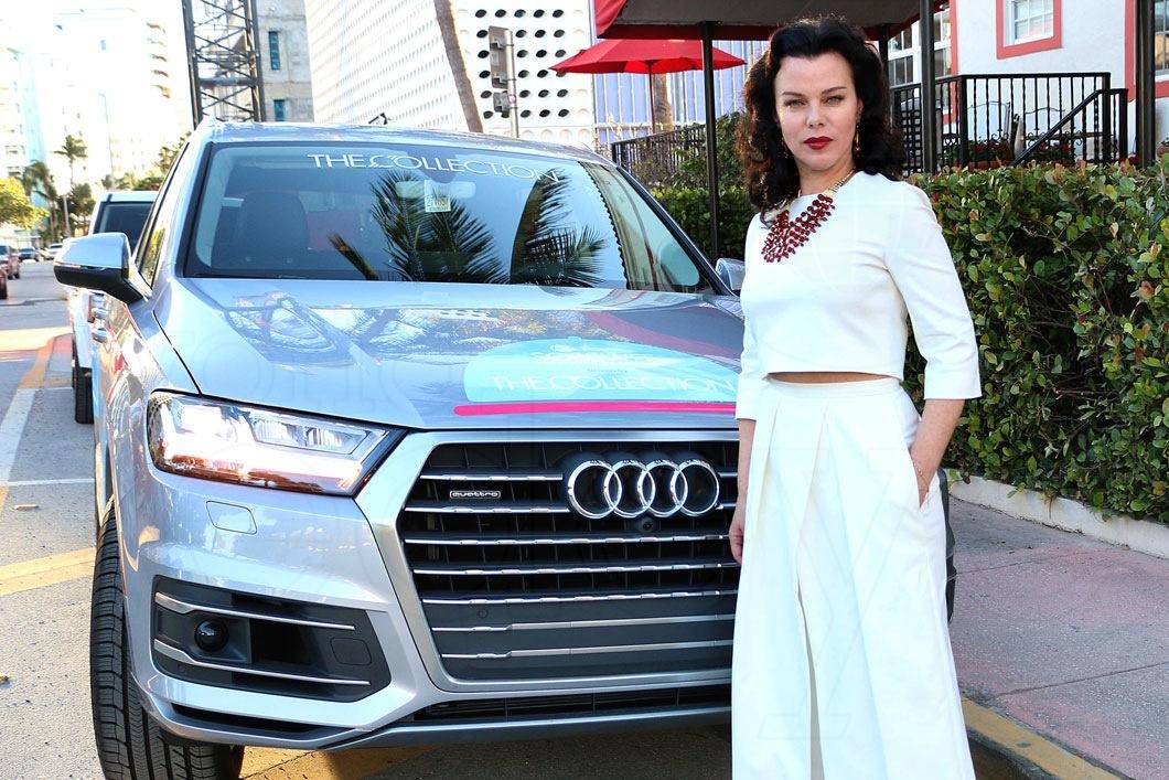 Debi Mazar with her Audi Q7 car