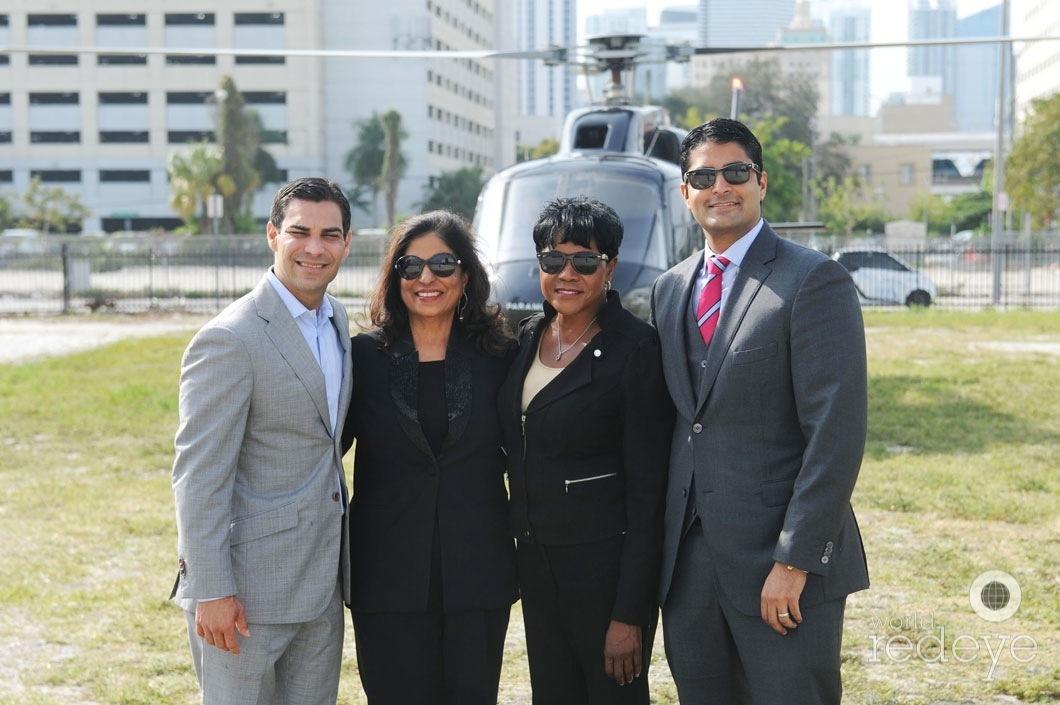 Francis Suarez, Aramola Motwani, Audrey Edmonson, & Nitin Motwani