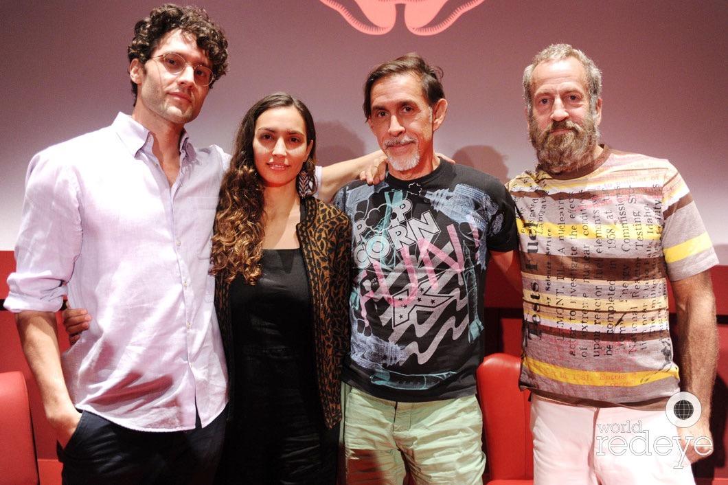 Max Basch, Malia Scharf, Friend, & Kenny Scharf