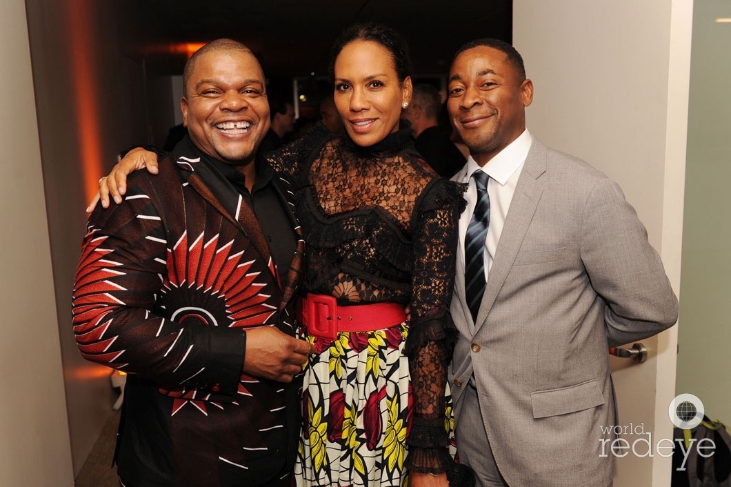 Kehinde Wiley, Barbara Becker, & Franklin Sirmans