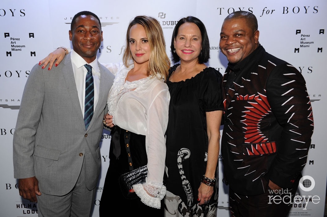 Franklin Sirmans, Erin Newberg, Dale Newberg, & Kehinde Wiley