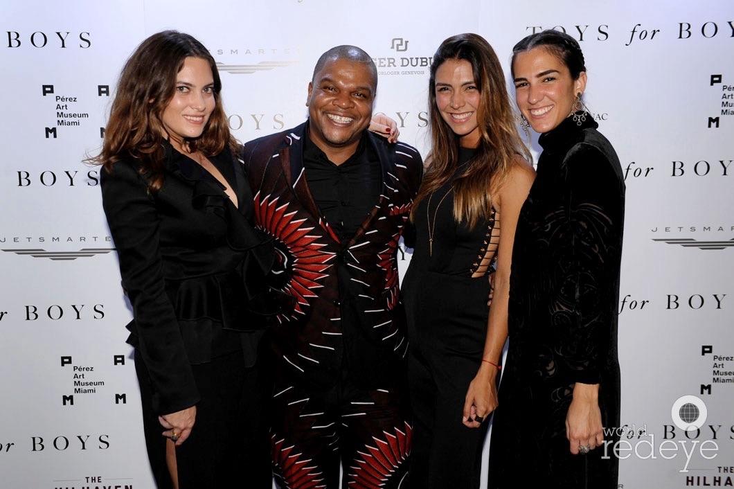 Jilian Sans, Kehinde Wiley, Nandina Varela, & Paula Collarte