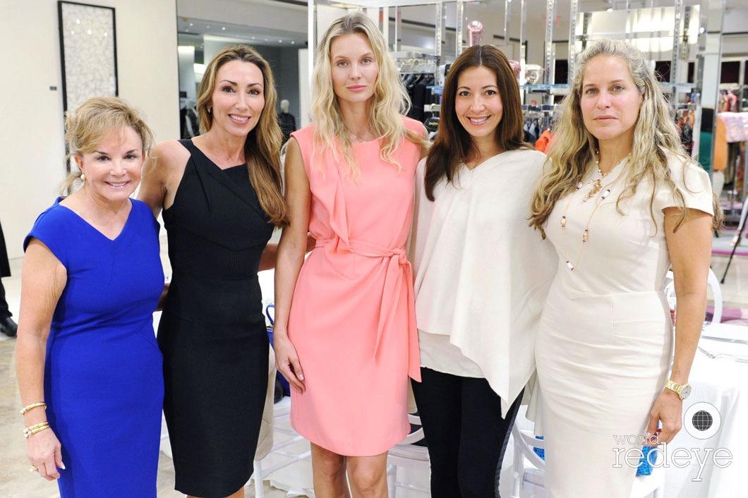 Swanee DiMare, Carol Iacovelli, Valeria Simon, Candise Shanbron, & Yolanda Colindres