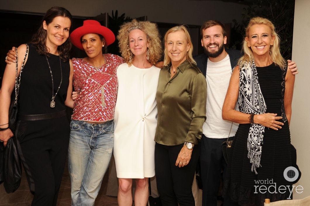 Julia Lemigova, Barbara Becker, Heather Kleisner, Martina Navratilova, Juan Lopez Salaberry, & Caroline St George