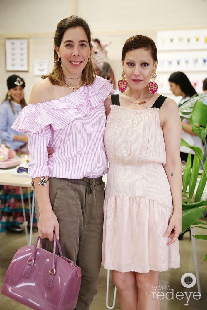 Angeles Almuna and Daniela Morgernstern at the opening of Maryjane Claverol Store