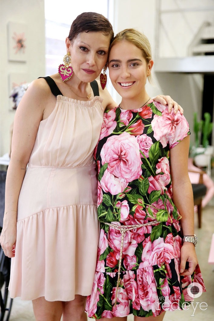 Angeles Almuna and Andrea Cora at the opening of Maryjane Claverol Store