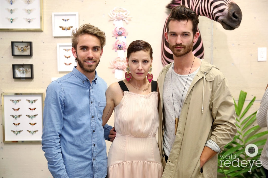 Kevin O'Donnell, Angeles Almuna, & Michael Stavredes assisting at Maryjane Claverol Store Opening at The Leah Arts District.