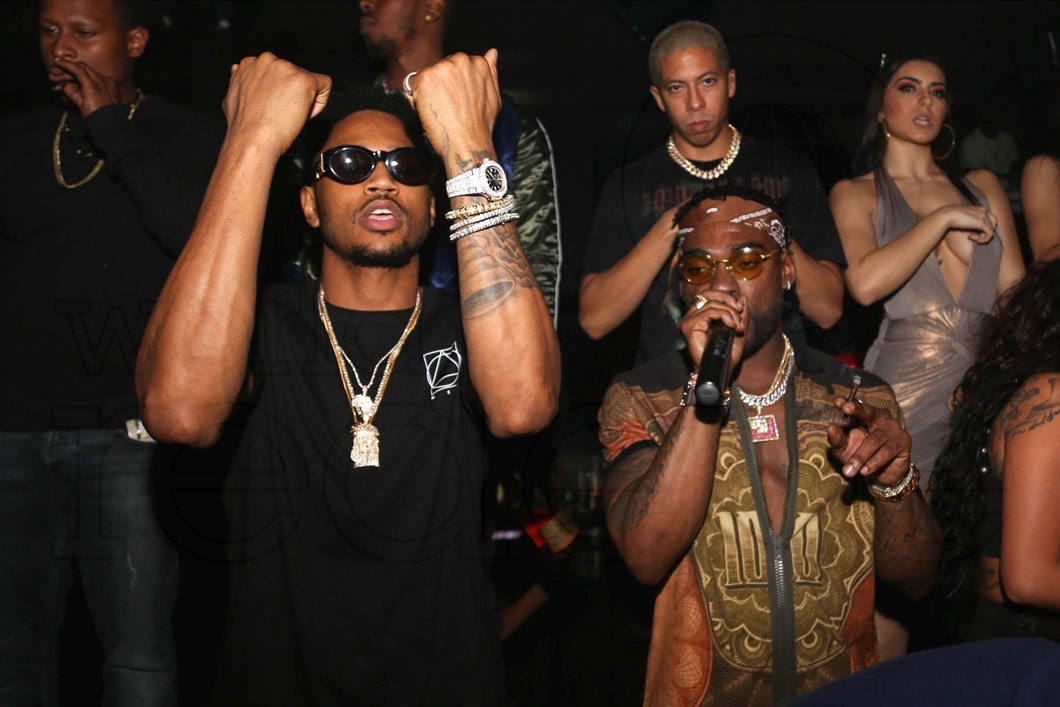 Trey Songz Aaron Jones At Story World Red Eye World Red Eye
