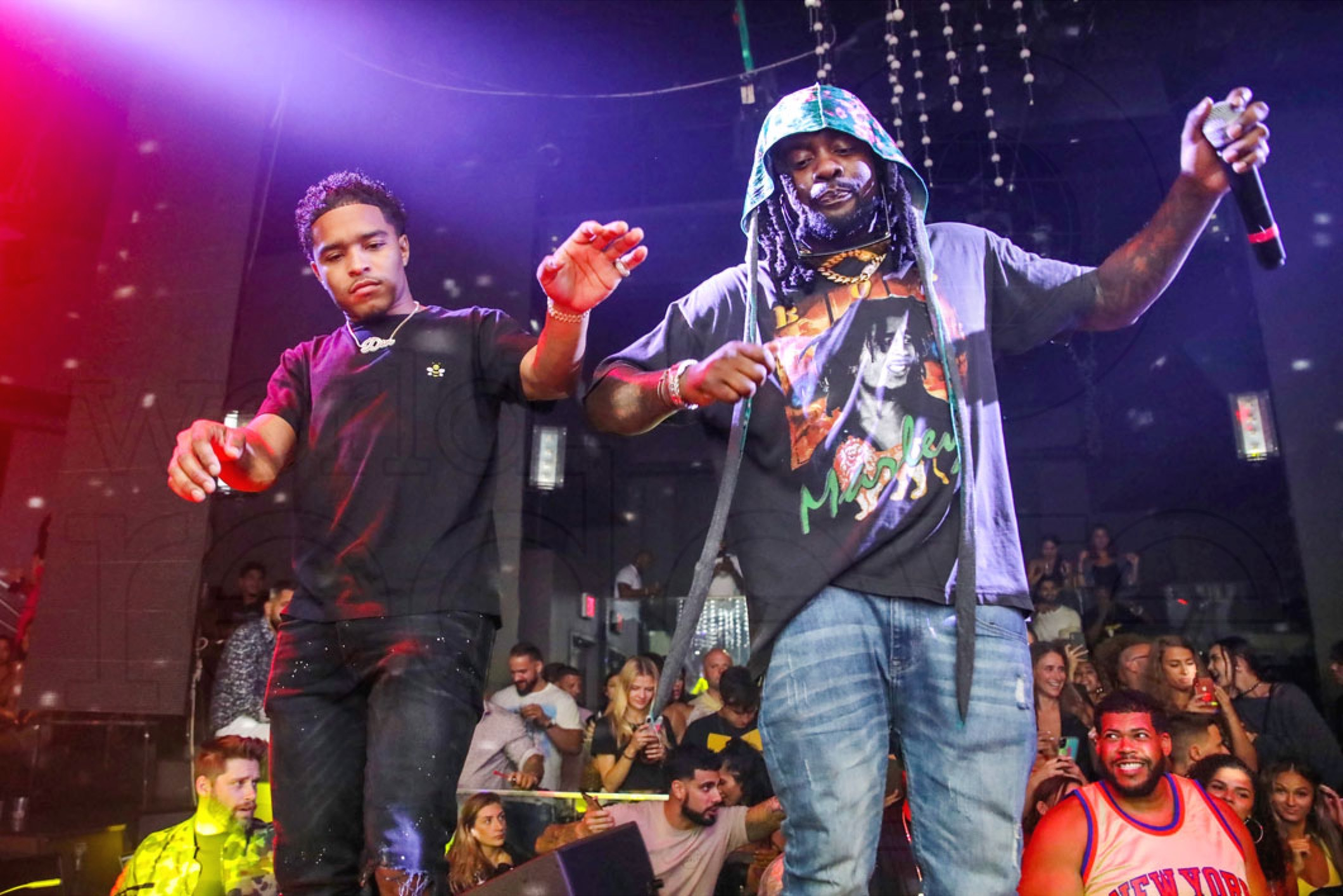 Wale & Justin Dior Combs at STORY Saturdays - World Red Eye