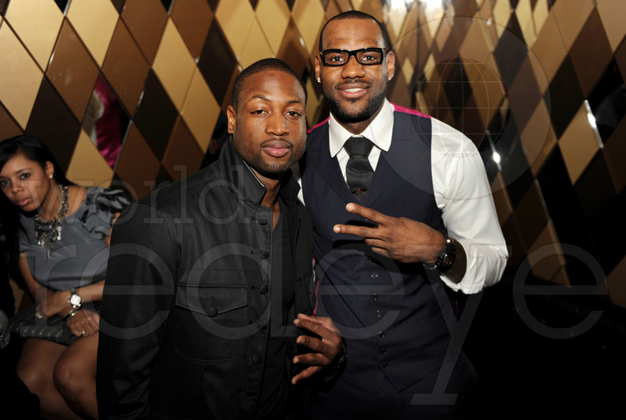 Photo of Dwyane Wade & his friend athlete  LeBron James - work